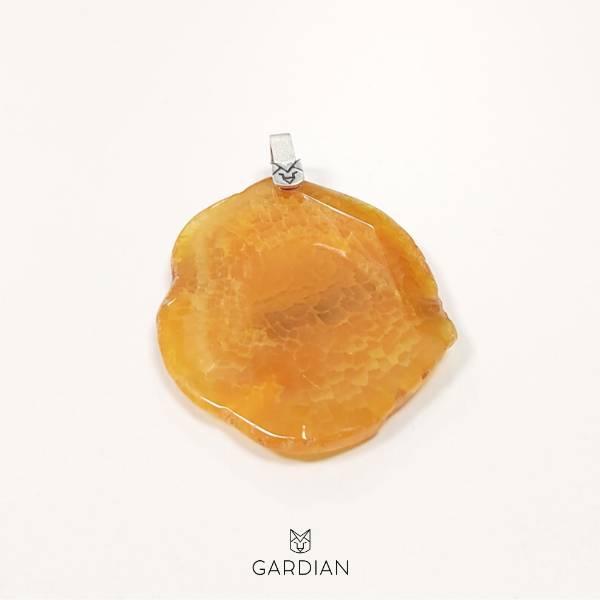 colgante diva agata naranja-Gardianjoyas