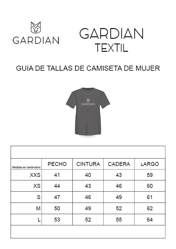 guia de tallas de camisetas