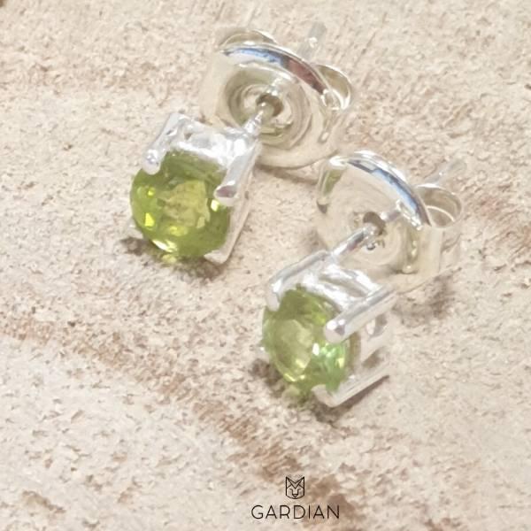 pendientes iris peridoto-Gardianjoyas