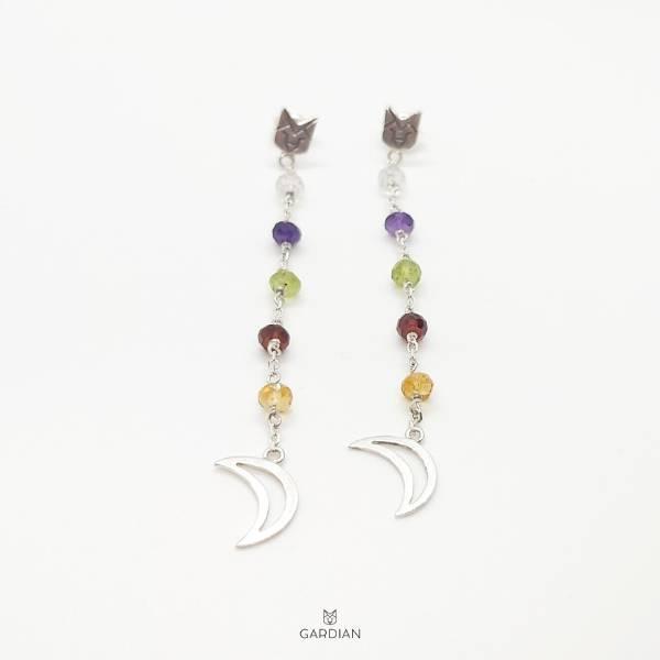 pendientes lobo night multicolor-Gardianjoyas