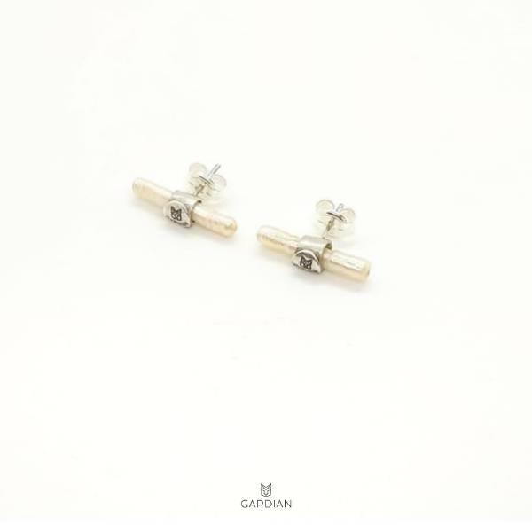 pendientes diva chic perla-Gardianjoyas