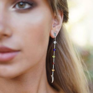 PENDIENTES LOBO NIGHT MULTICOLOR-Gardianjoyas