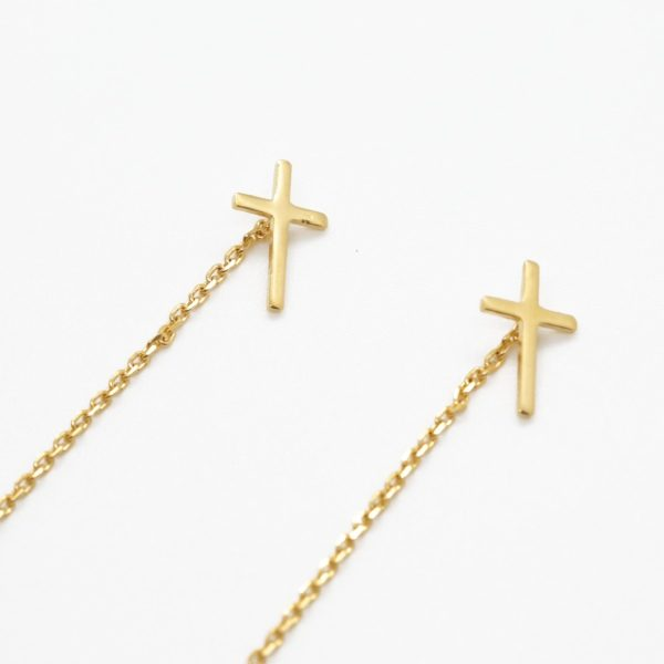 Pendientes Cruz Latina Golden