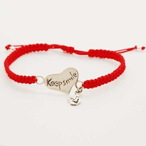 pulsera_keep_smile_roja
